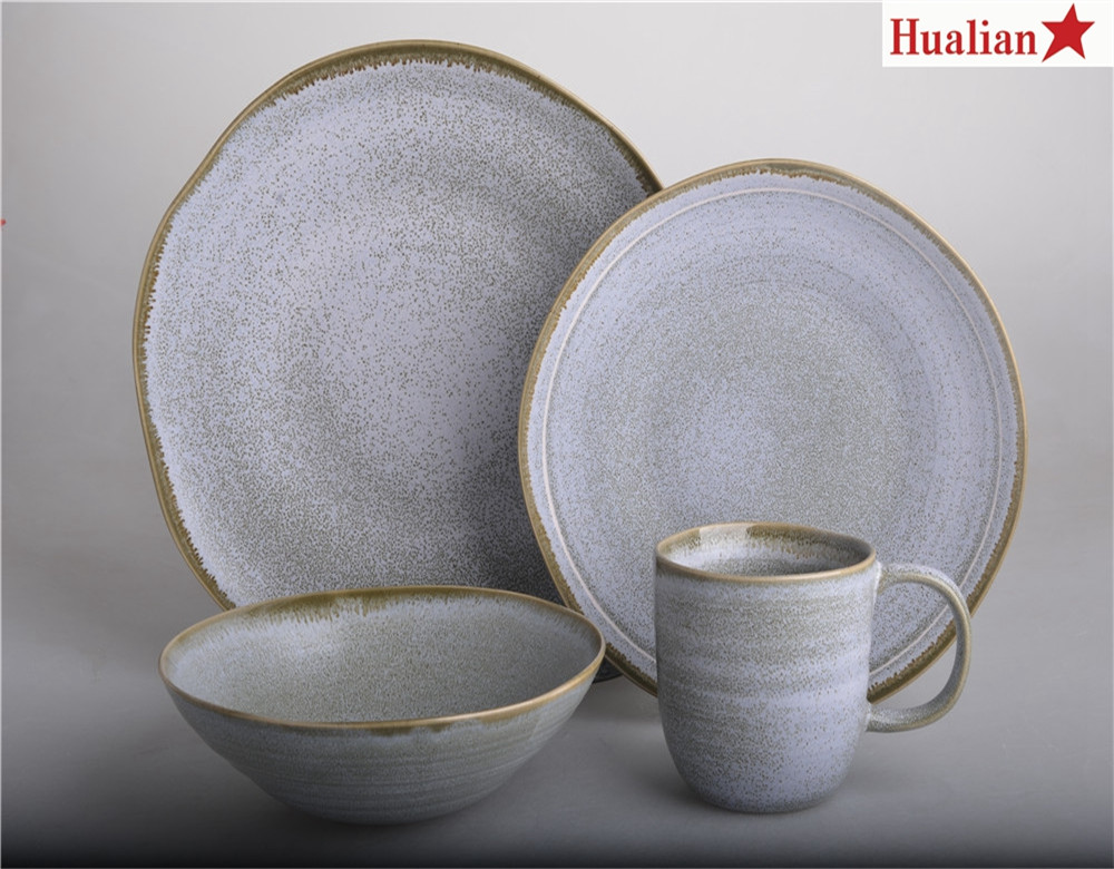 Exclusive 16 pcs reactive porcelain kitchen ware