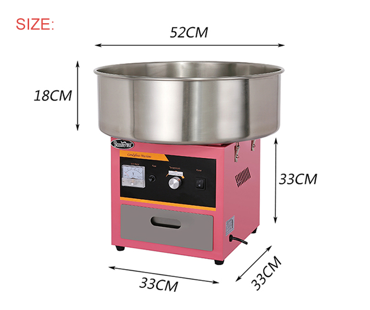 EC-03 Hot Sale Full Automatic High Capacity Electric Mini Marshmallow Commercial Pink Japanese Cotton Candy Floss Machine