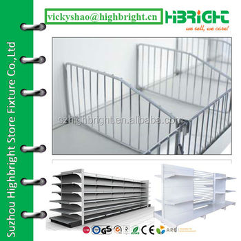 Metal Wire Mesh Shelf Divider For Supermarket Gondola Racks - Buy ...