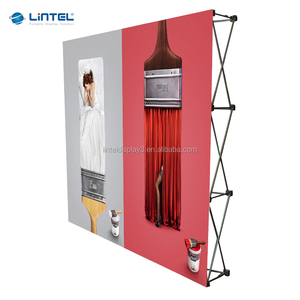 Fabric tension pop up wall display stand for advertising