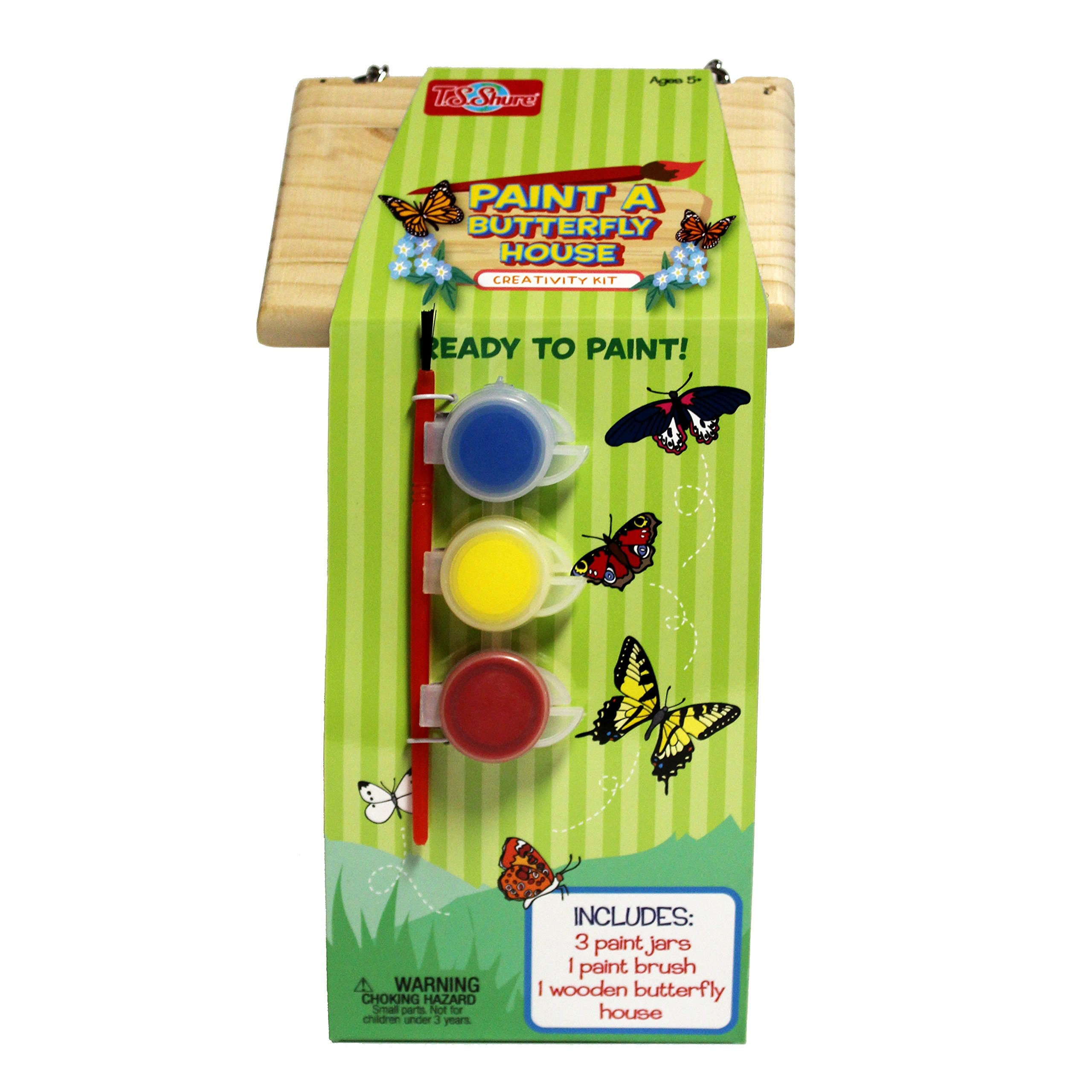 T.S. Shure Wooden Paint a Butterfly House Creativity Kit