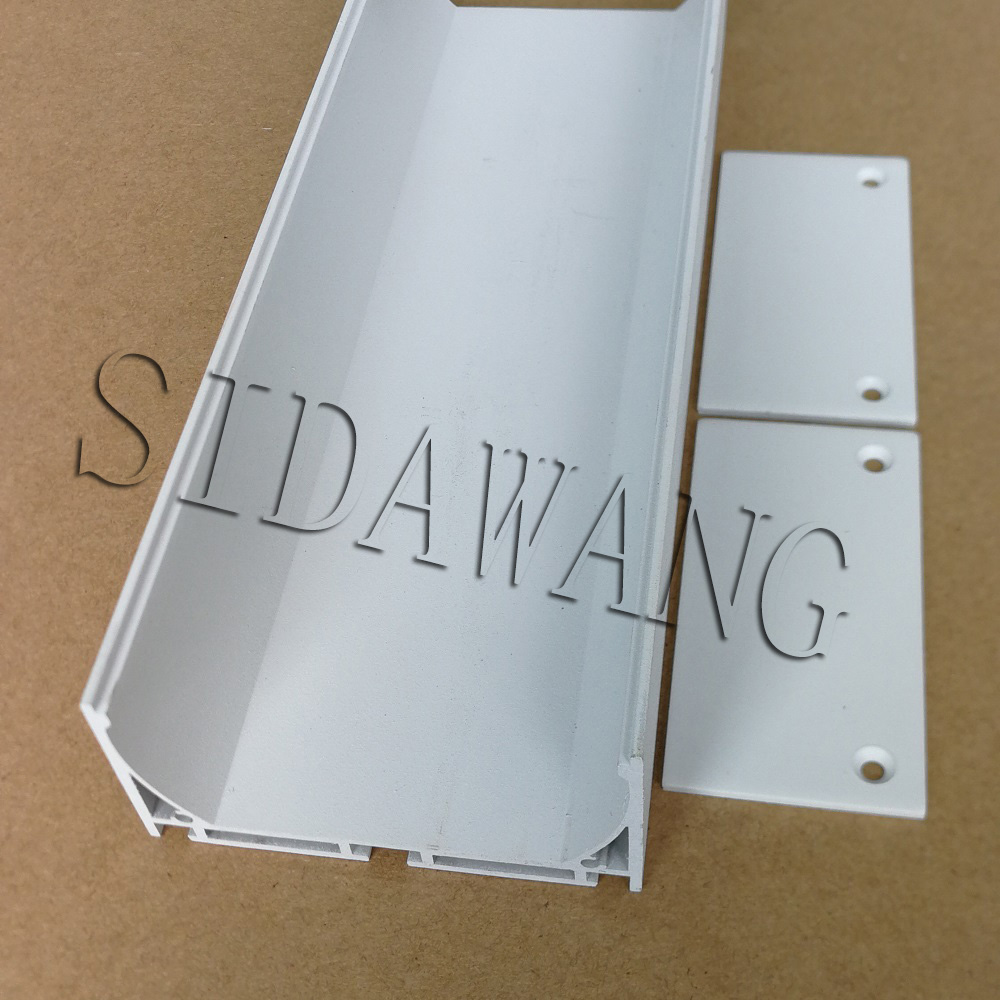 White color Recessed surfaced Linear Flanged LED Aluminium Extrusion Profile with PC diffuser