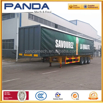 PANDA Tri Axle 40ft Cargo Curtain Side Semi Trailer For Sale
