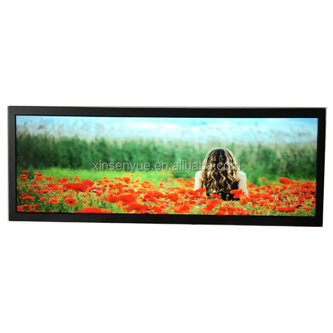 Wall Mount Advertising Player Ultra Wide Bar Lcd Stretched