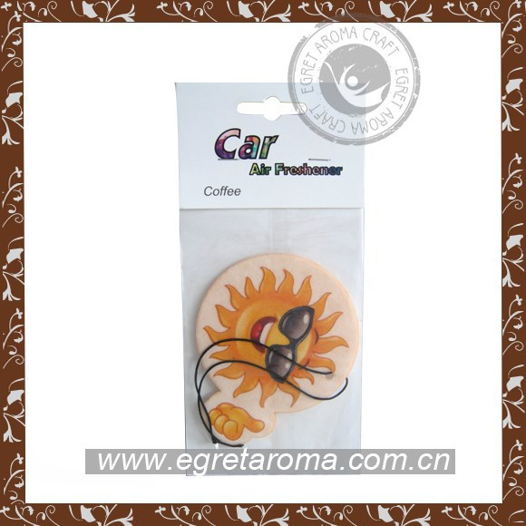 EA1-1010 sun customized hanging paper car air freshener