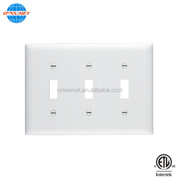 Pc Material 3 Gang Wall Toggle Switch Led Light Wall Switch Pc Face