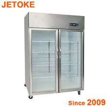 JETOKE Transparent Glass door Cooler Fridge
