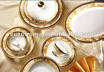 luxury bone china dinner set with gold decals & Luxury Bone China Dinner Set With Gold Decals - Buy Ceramic ...