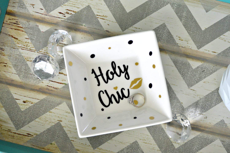 Holy Chic Jewelry Dish, Fashion Ring Dish, Jewelry Dish, Jewelry Holder, Ring Dish, Ring Holder, Custom Ring Dish, Holy Chic Print,Ring Bowl