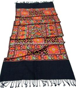 embroidered indian pure wool shawls