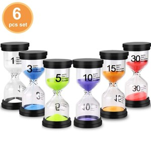 Kingtale magnet plastic 30 second 1 minute hourglass magnetic sand timer