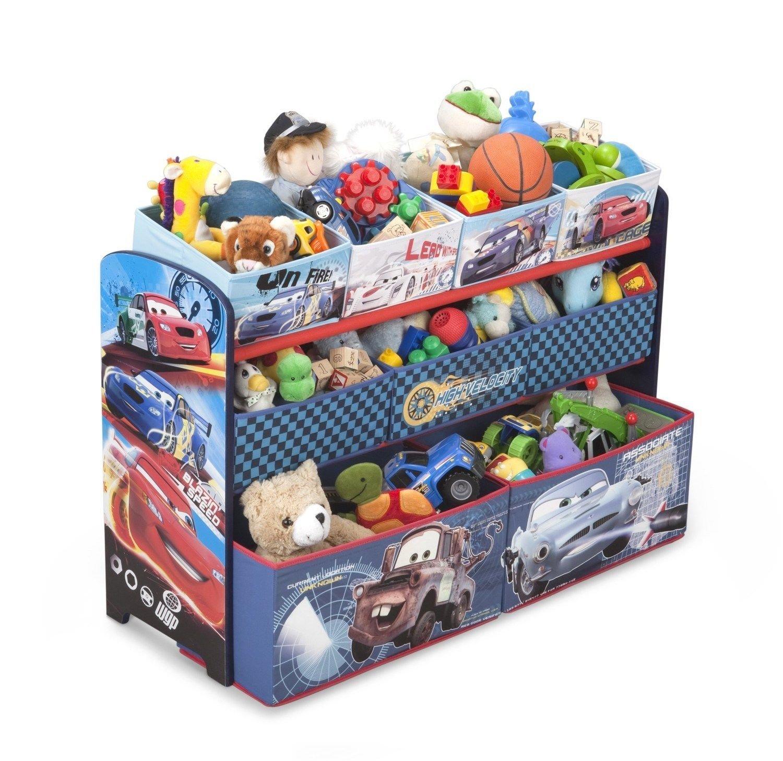 Buy Cars Deluxe Multi Bin Toy Organizer Kids Bedroom Childrens Play