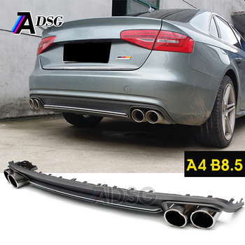 pp material s4 style rear bumper diffuser for audi a4 b8 5. Black Bedroom Furniture Sets. Home Design Ideas