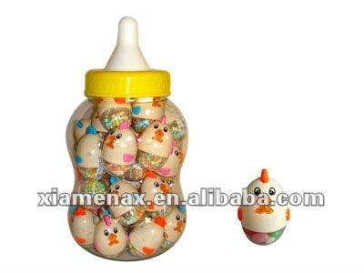 chicken camera egg toy candy in baby bottle