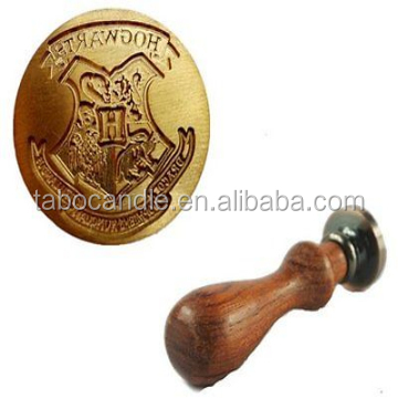 Vintage Harry Potter Hogwarts School Badge Wax Seal Stamp Handle Set Invitation