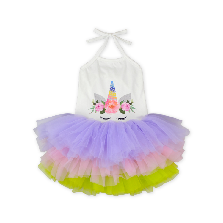2019 Summer Fancy Cute Baby Girls Party Dress Pink Blue Purple Tulle Sleeveless Tied Dress Multi Color Baby Clothing