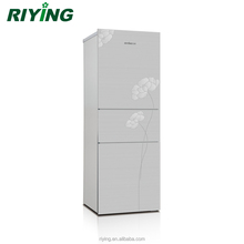 186 Liter Three Triple Multi Door Combi Stainless Steel Household Refrigerator for Home Kitchen