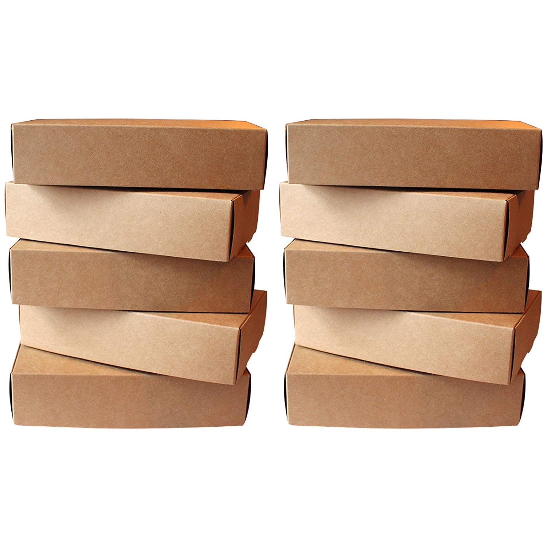 Buy Kurtzy Brown Postal Cardboard Boxes 10 Pcs Kraft Cardboard
