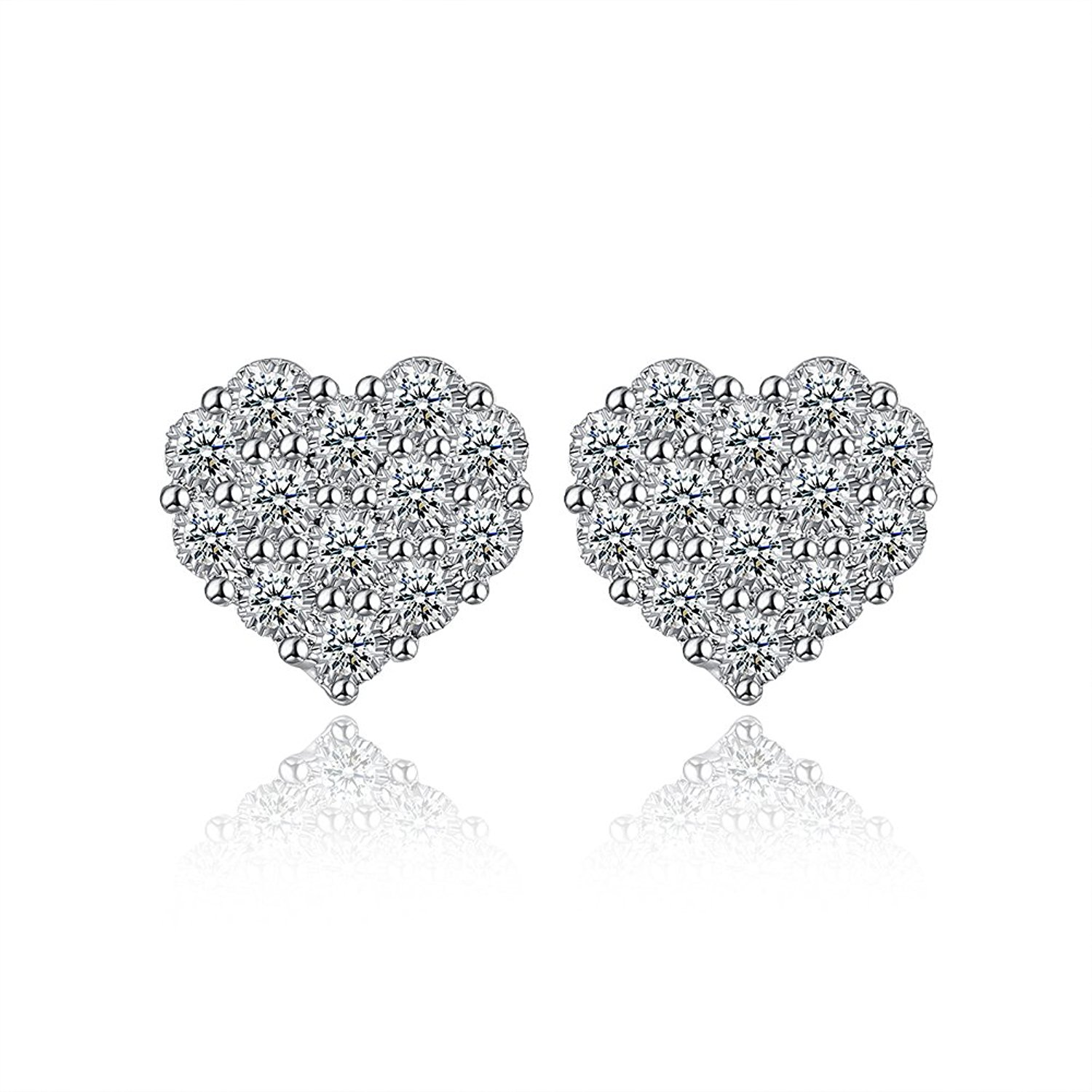 Heart Earrings Hypoallergenic Studs Open Heart Stud Earrings for Women Girls