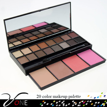 20 color complete makeup kit,high quality eyeshadow blusher face powder compact makeup