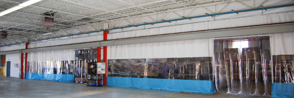 photo industrial pvc walls curtains vinyl partitioning systems curtain