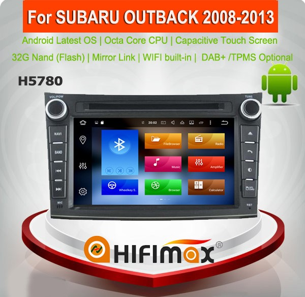 Hifimax Android 6.0 car gps for subaru outback car dvd gps navigation system car dvd player for subaru outback Octa core 2G RAM