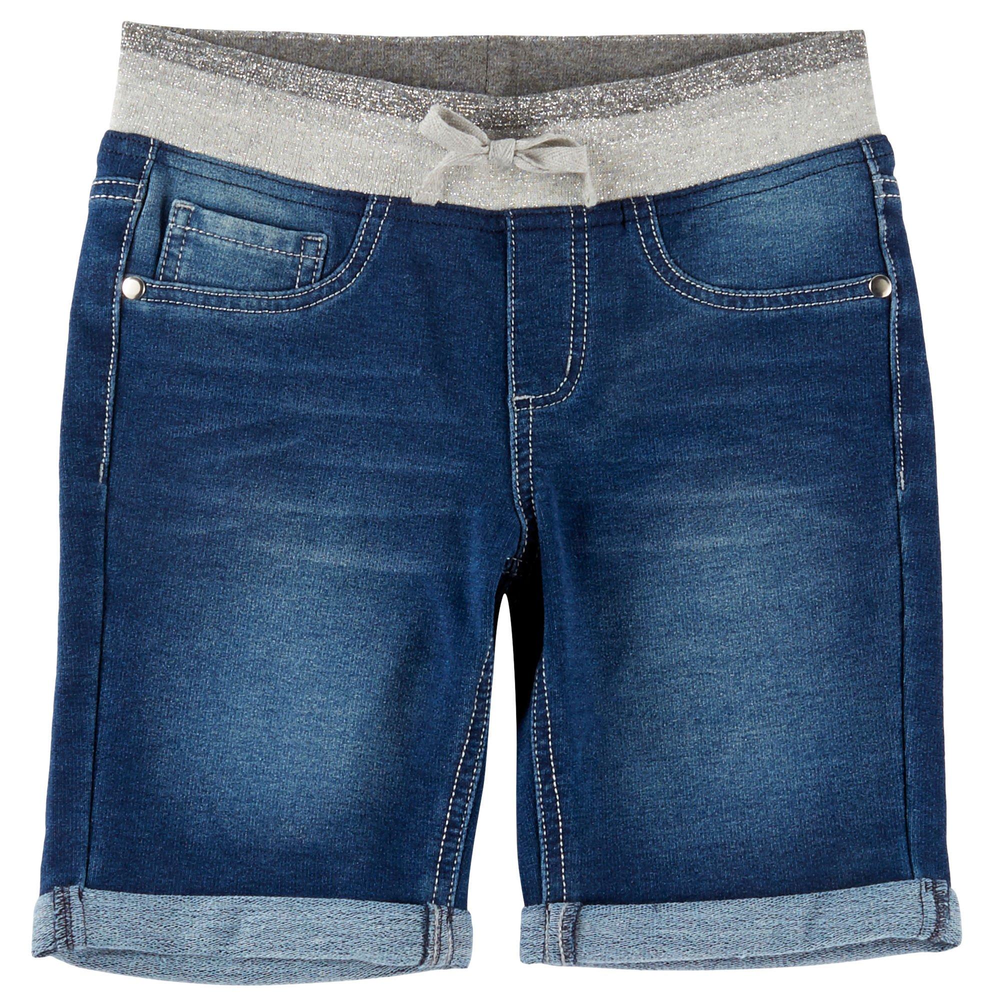 d33db3696c Get Quotations · Vanilla Star Big Girls Knit Waist Denim Bermuda Shorts
