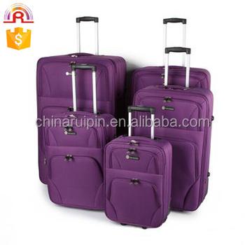 4 Stuks Polyester Reizen Trolley Bagage Koffer Tas Case Lichtgewicht Case Buy Reizen Trolley Bagage Tas,600d Polyester Eva Bagage Trolley