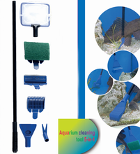 Nieuwe multifunctionele aquarium cleaner set glazen aquarium cleaning tools aquarium accessoires