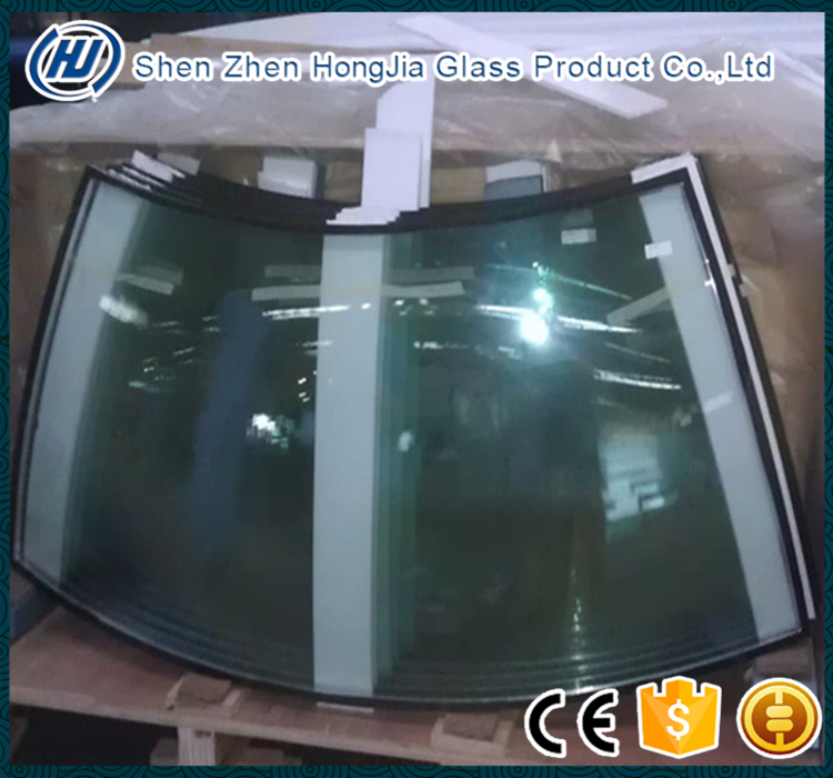 Curved and flat laminated safety building glass roof price