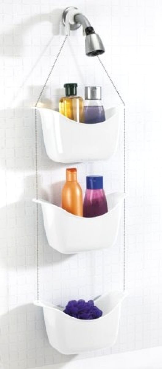 Happyplace,Hanging Shower Head Caddy Shelf Organizer Bathroom Storage  Holder Rack Basket,shower Caddy