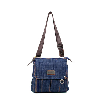 Denim Fabric Waxed Canvas Unisex Jeans Sling Bags Travel - Buy ... 608a6e1959978