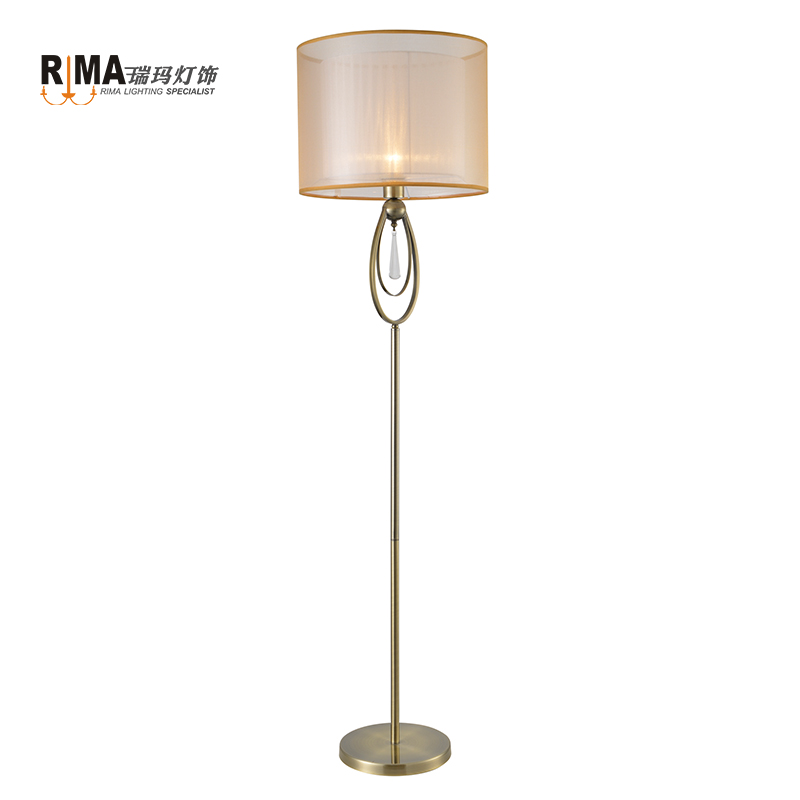 Zhonngshan Hot sell dimmable led floor lamp coffee bar shop hotel vintage Iron Antique Bronze golden light