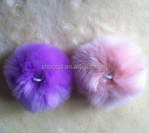 Colorful faux rabbit fur pompom ball 3cm to 16cm for DIY decorations for garments handbag hat
