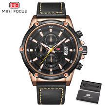 MINIFOCUS для мужчин s часы лучший бренд класса люкс часы для мужчин водостойкий кожаный ремешок Relogio Masculino reloj hombre синий erkek коль saati(Китай)