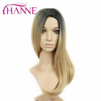 2 Tons Ombre Blonde Perruque De Cheveux Synthé