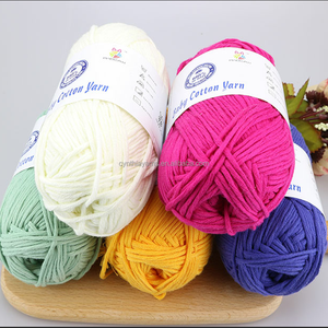 100% mercerizer cotton yarn 16 ply cotton yarn for knitting Eco friendly cotton yarn