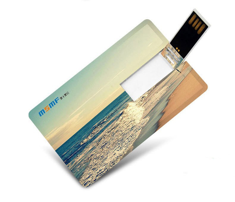 Paper thin usb flsh drive, high capacity 128gb credit card usb flash drive