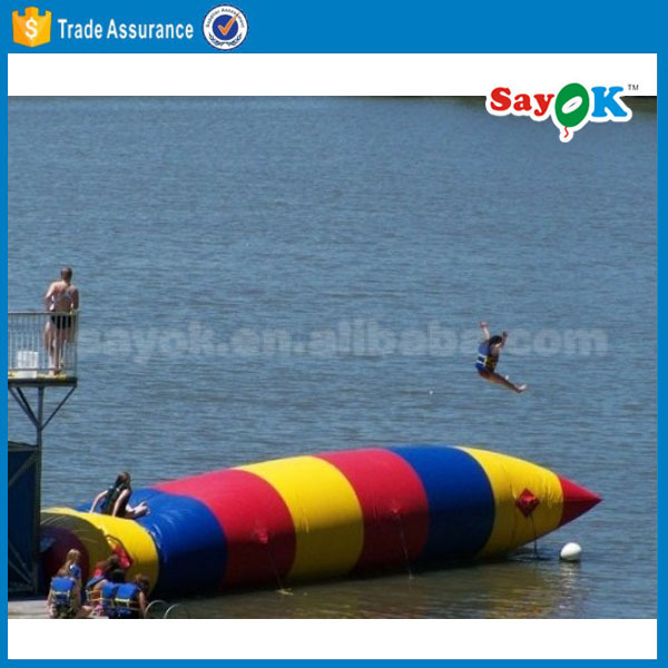 sale 0.9PVC inflatable water catapult blob inflatable jumping pillow for water park