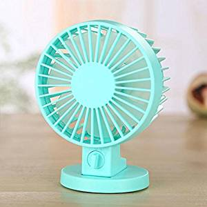 YOLOPLUS Mini Multipurpose Collapsible Portable Fan Clip Fan Desktop Fan Handheld Fan Outdoor Fan For Home and Travel (Double Leaf Blue)