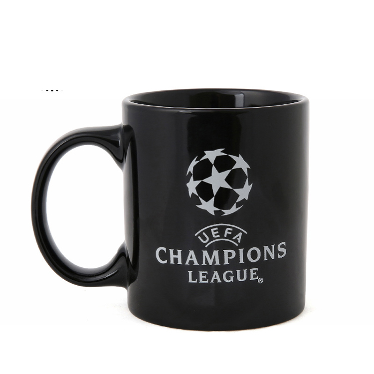 Wholesale custom football team printing souvenir porcelain mug