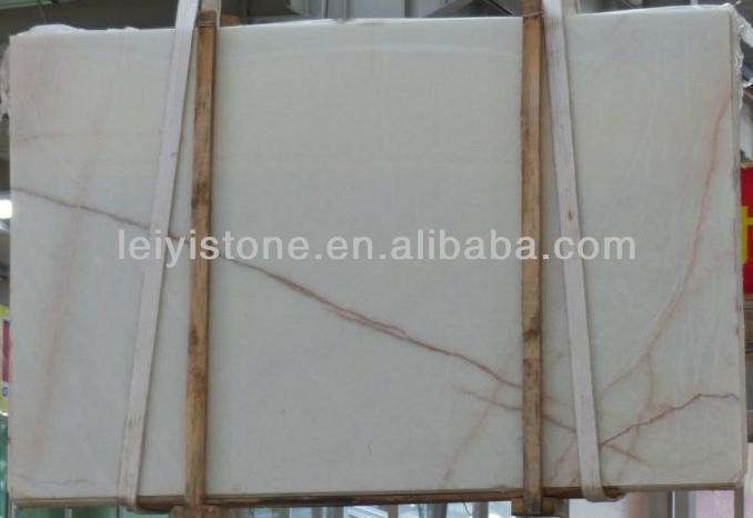 Manufactured Natural Translucent White Onyx Marble Stone Slab Tiles for Luxury Derocative