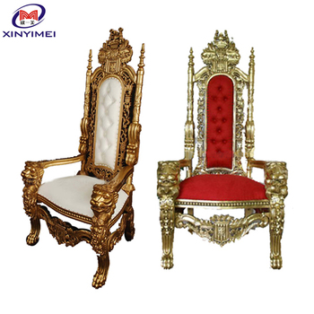 Golden Indian King Wedding Chairs