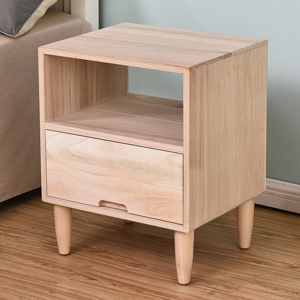 AiHerb.LT nightstand Solid Wood Bedside Cabinet Storage Bedroom Cabinet Bedside Table Cabinet (Color : C-4537.556)