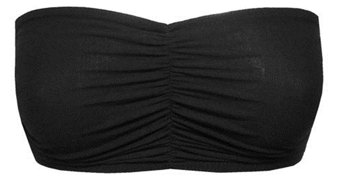 New Womens Plain Stretch Dance Rave 80's Boob Tube Strapless Vest Bra Crop Top