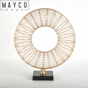 Mayco Modern Iron Craft Indoor Rose Gold Metal Art Home Table Decoration Supplier From China