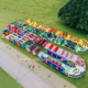 185 meters long adults giant inflatable obstacle course from Guangzhou Inflatables factory