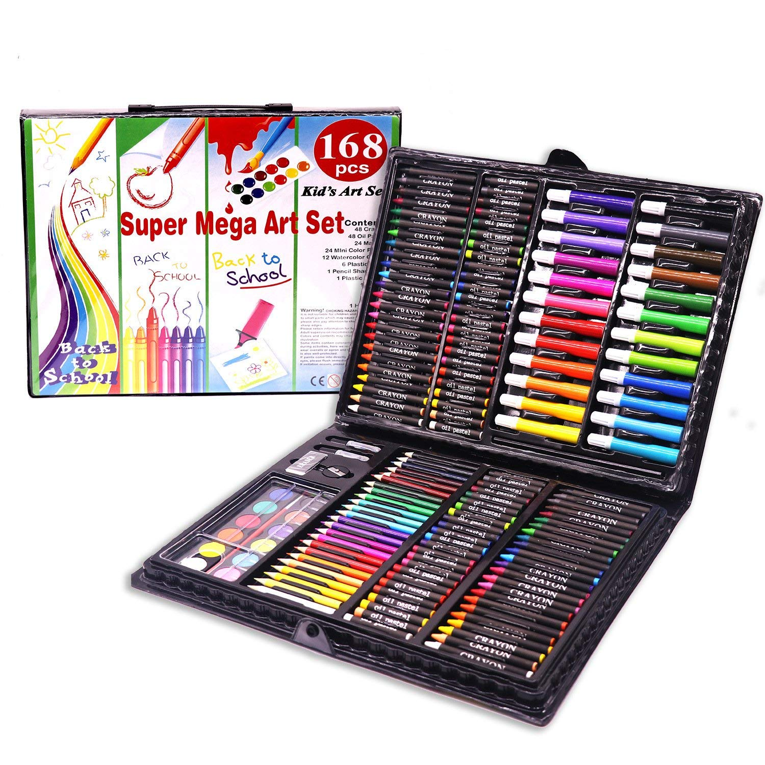 168-Piece Deluxe Art Set – Art Supplies for Drawing, Painting and More in a Compact, Portable Case - Makes a Great Gift for Beginner and Serious Artists