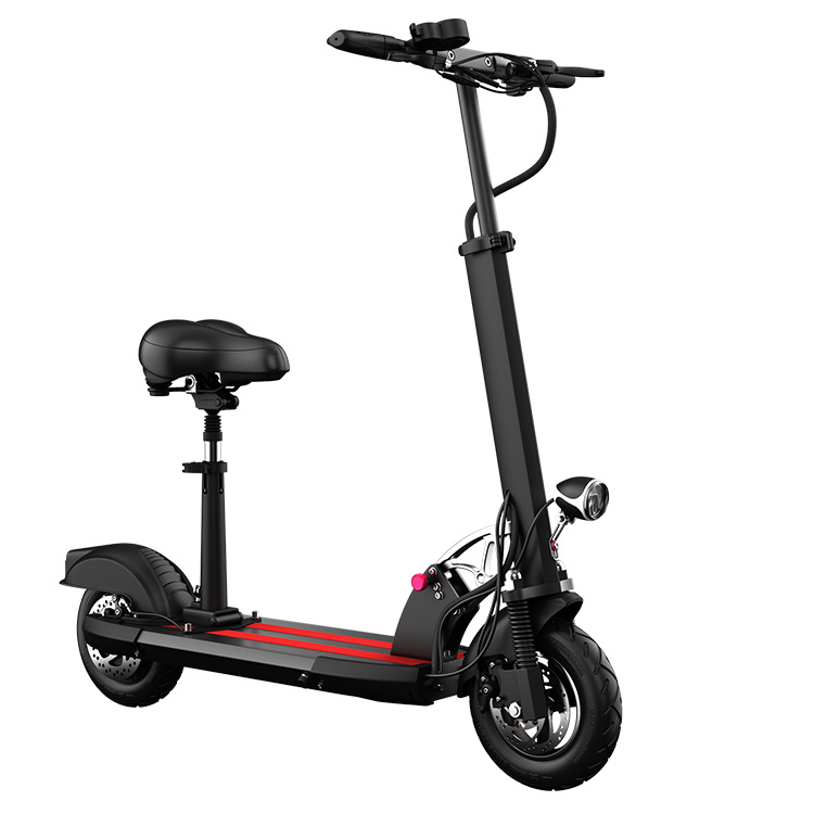 Cheap 10 inch Fat Tire Electric Kick Scooter 2018 with 10.6A Battery 23-28 km range, Black;white