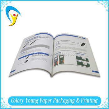 Promotional a4 paperback softcover book printed full color softcover book printing